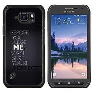 LECELL--Funda protectora / Cubierta / Piel For Samsung Galaxy S6Active Active G890A -- Antes de juzgar yo tipografía --