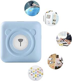 Brownrolly Papier Foto- und Thermo-Etiketten-Aufkleber Quittungsdrucker, kabelloser Mini-Taschendrucker, tragbarer Bluetooth Instant Mobile Drucker mit Druckpapier Rose