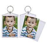 2.5'' x 3.5'' Jumbo Acrylic Snap-In Photo Keychains - Pack of 36