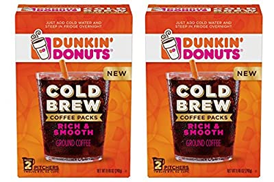 Dunkin' Donuts Cold Brew Coffee Packs 2 Boxes from Jm Smucker Co
