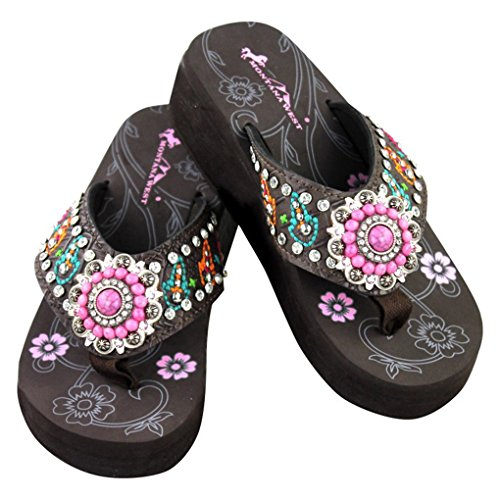 montana-west-flip-flop-sandals-hand-beaded-embroidered-studded-10bm-cf-pink-concho