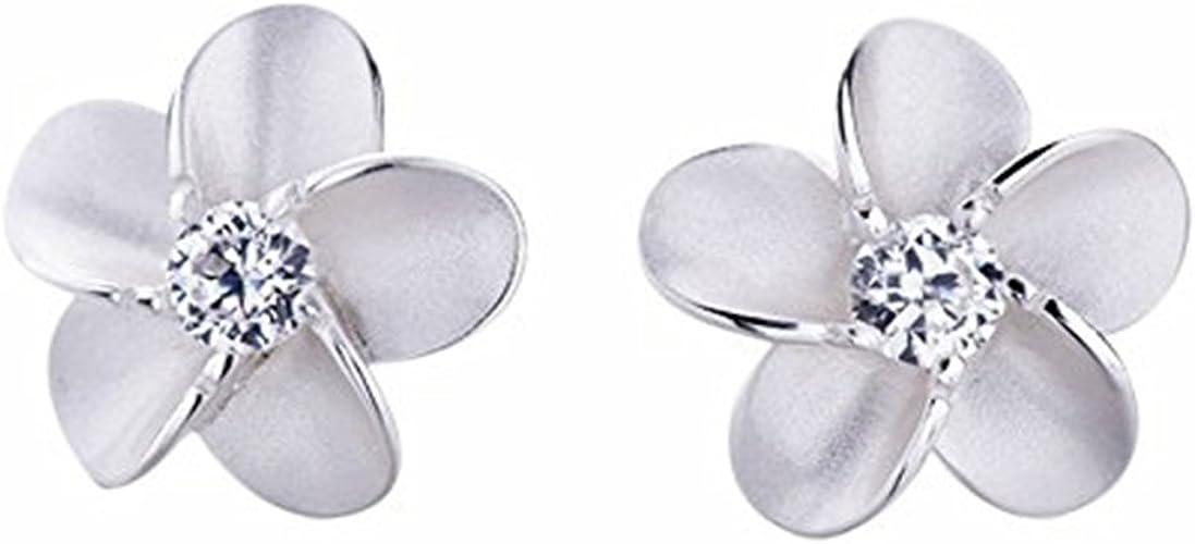 6 mm de diámetro Plata esterlina 925 pequeño Rosa Flor Aretes