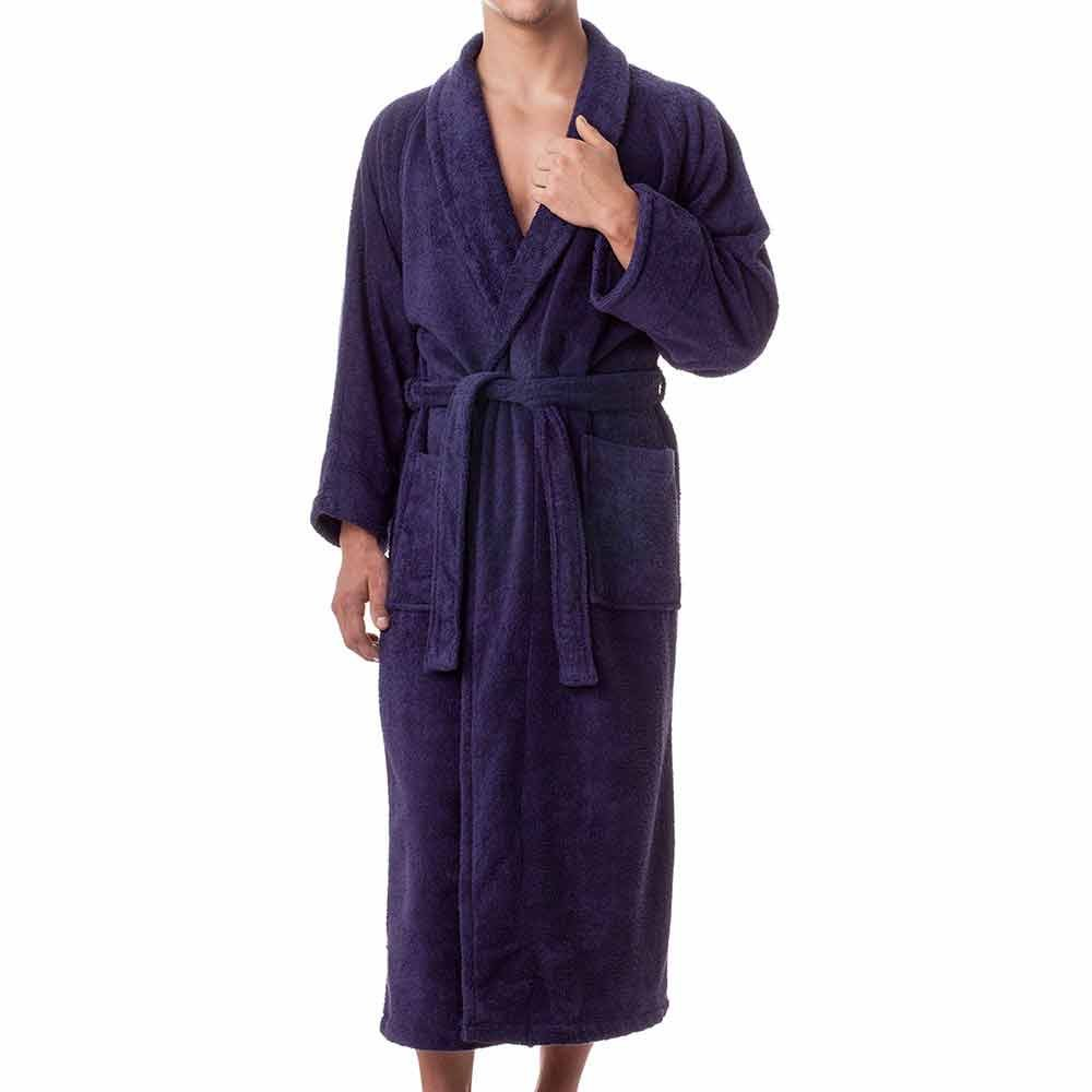 unisex terry cloth robe 100 long staple cotton hotel spa robes classic robes for men or. Black Bedroom Furniture Sets. Home Design Ideas