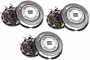 Cabezales de repuesto para PHILIPS HQ8 Sensotec Spectra (3 piezas) para uso con I afeitar philips Color 7100 Series, 7200 Series, 8400 – 8800 Series, cabezales para afeitadora, cuchillas para afeitar y