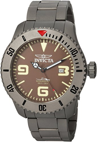Invicta Men's 'Pro Diver' Automatic Titanium Diving Watch, Color:Silver-Toned (Model: 23125) Watch Pro Wind Meter
