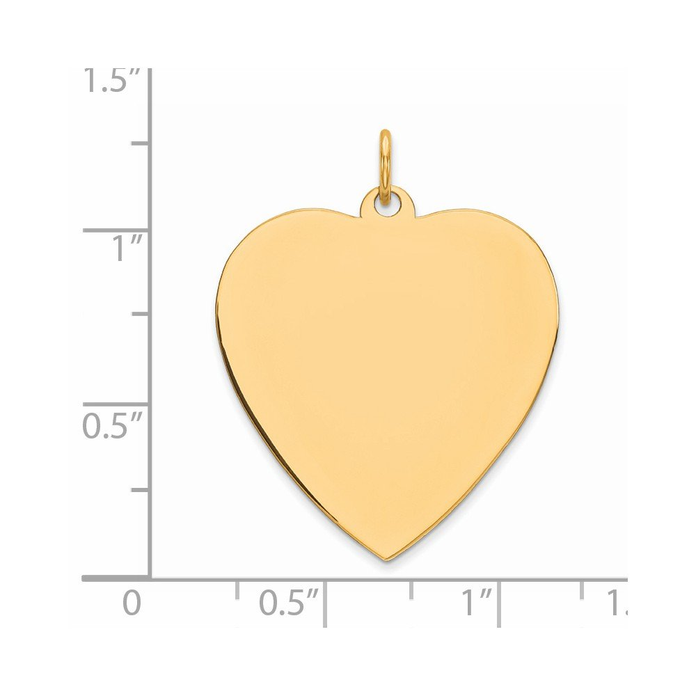 Sterling Silver Gold-Plated Engravable Heart Polished Disc Charm Pendant