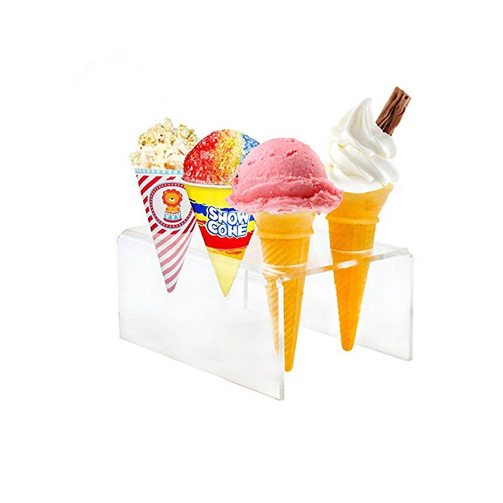 Patty Both 6 Hole Wedding Party Acrylic Ice Cream Cupcake Display Stand (6 Hole)
