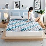 CNZXCO Sleeping Bed Mattress pad Futon mat, Mattress Topper Protector Student Dormitory Folding Tatami Floor Mattress Cover Cashmere Alternative Fill-B 150x200cm(59x79inch)
