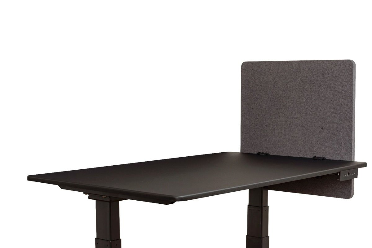Offex Reclaim Desktop Workstation Privacy Panel in Slate Gray - 24'' W X 24'' H