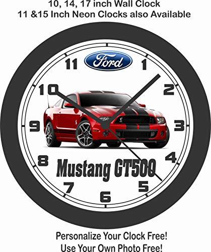 Jim's Classic Clocks 2014 Ford Mustang GT500 Shelby Wall Clock-Free USA Ship, Camaro, Corvette