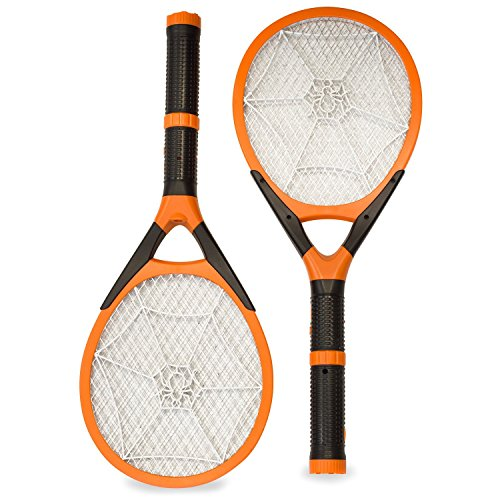 Generic Two-pack Rechargeable Mosquito Wasp Bug Fly Zapper Electric Swatter with Detachable Flash Light
