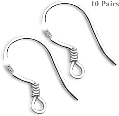 1 PAIR STERLING SILVER 925 QUALITY EARWIRE STOPPERS 5 MM BACKS WITH SILICONE