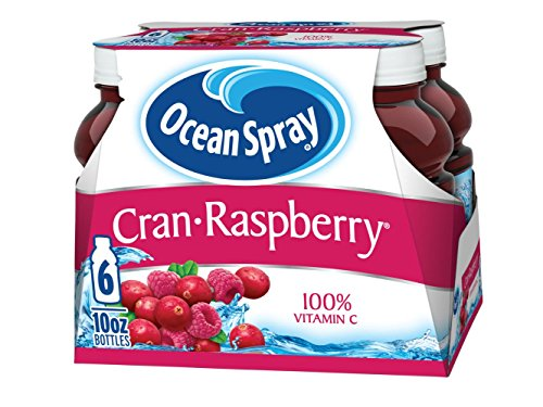 Ocean Spray Juice Drink, Cran-Raspberry, 6 Count (Pack of 4)