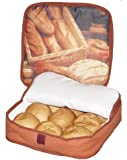 """The FoodWarmer Bread Warmer - Insulated Microwavable Bun and Bread Warmer (11"""" x 11"""") - Keeps Warm for up to One Hour"""