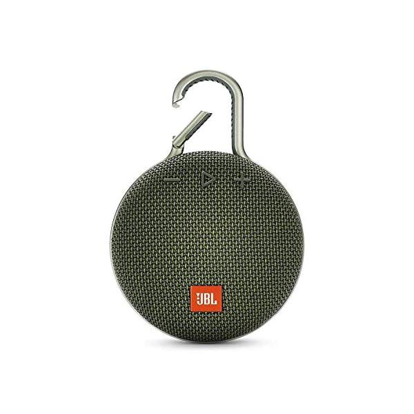 JBL Clip 3 - enceinte Bluetooth Portable avec Mousqueton - Étanchéité Ipx7 - Autonomie 10hrs - Qualité Audio JBL - Vert 1