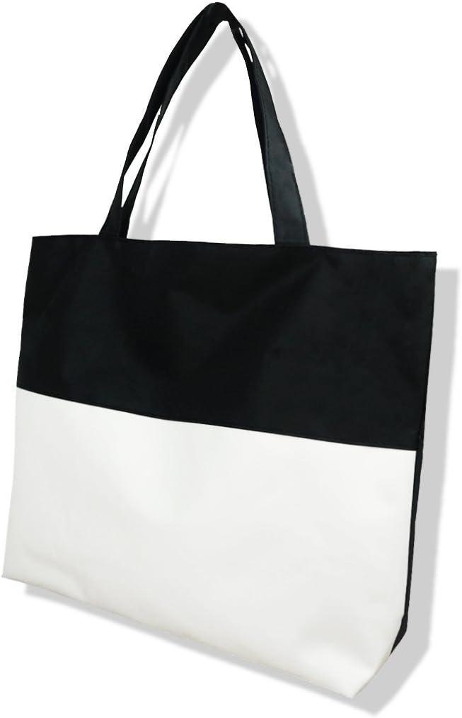 Arte e Artigianato Palestra Scuola Bianco Beige Borsa Shopping Tote Tote Bag da Viaggio alla Moda per Donna Borsa Spesa Riutilizzabile per generi Alimentari con Cerniera
