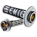 ODI EMIG V2 Lock-On Grips - 2 & 4-Stroke (ORANGE/WHITE)