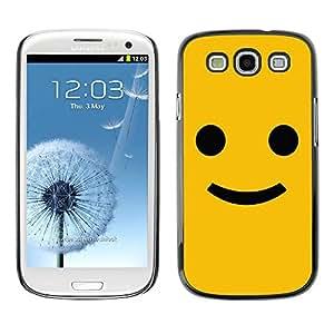 Carcasa Funda Prima Delgada SLIM Casa Case Bandera Cover Shell para Samsung Galaxy S3 I9300 / Business Style Funny Happy Smile Smiley Face