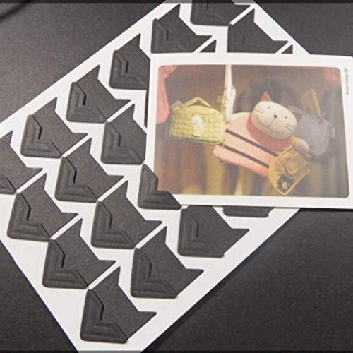 SOURBAN 24pcs Kraft Paper Photo Corner,Black by SOURBAN (Image #3)