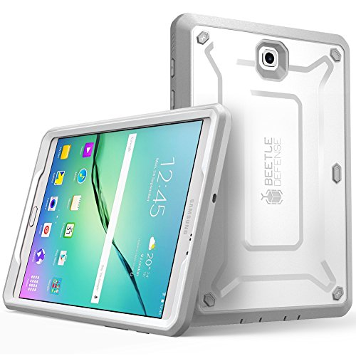 Galaxy Tab S2 8.0 Case, SUPCASE [Unicorn Beetle PRO Series] Case for Samsung Galaxy Tab S2 8.0 Tablet (SM-T710/T715/T713)Rugged Hybrid Protective Cover Builtin Screen Protector Bumper (White/Gray)