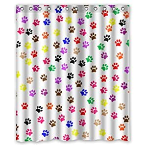 Colorful Animal Paw Print Dog Paw Pattern Print Design