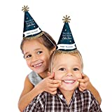 Twinkle Twinkle Little Star - Cone Happy Birthday Party Hats - Set of 8