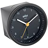 Braun BNC007BKBK Classic Light Analog Quartz Alarm Clock