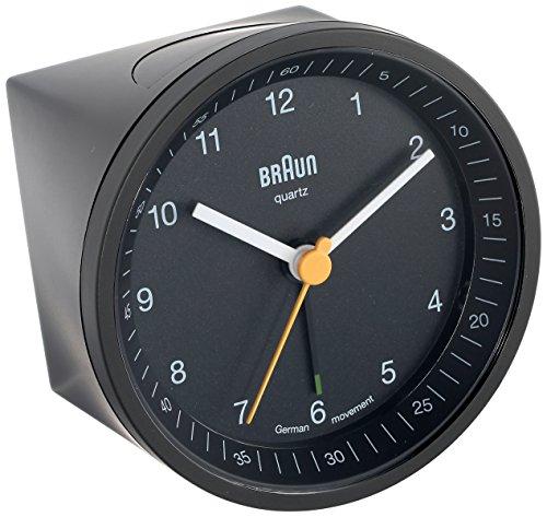 Braun BNC007BKBK Classic Light Analog Quartz Alarm Clock ()