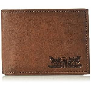 Levi's Men's Rfid Blocking Two Horses Logo Passcase Wallet