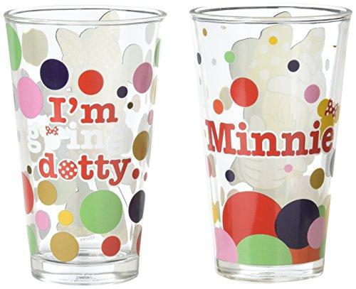 (Disney - Minnie Mouse 2pc Pint Glass Set )