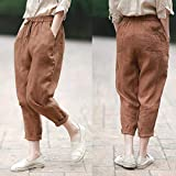 baggy pants/free size/linen natural with dedicated design