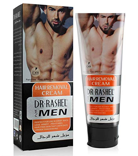 Depilatories Cream for Men, Aloe Hair Removal Cream for Men, PAIN-FREE, NO ORDOR, gently remove unwanted hair. Suitable for legs, body, underarms and other areas. Suitable for all skin types, 120ML (Best Hair Removal For Genital Area)