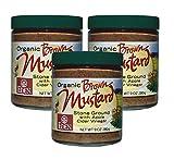 Organic Brown Mustard - 9 Oz. Glass Jar (Pack of 3)