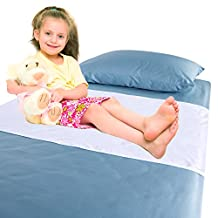 Chummie Luxury Reusable Bamboo Waterproof Bedding Overlay for Bedwetting, Blue, 40 x 28-Inches