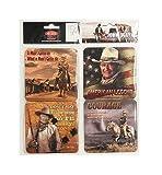 John Wayne Coasters -Set of four: American Legends- Courage- I'll Shoot...- Man's Got...