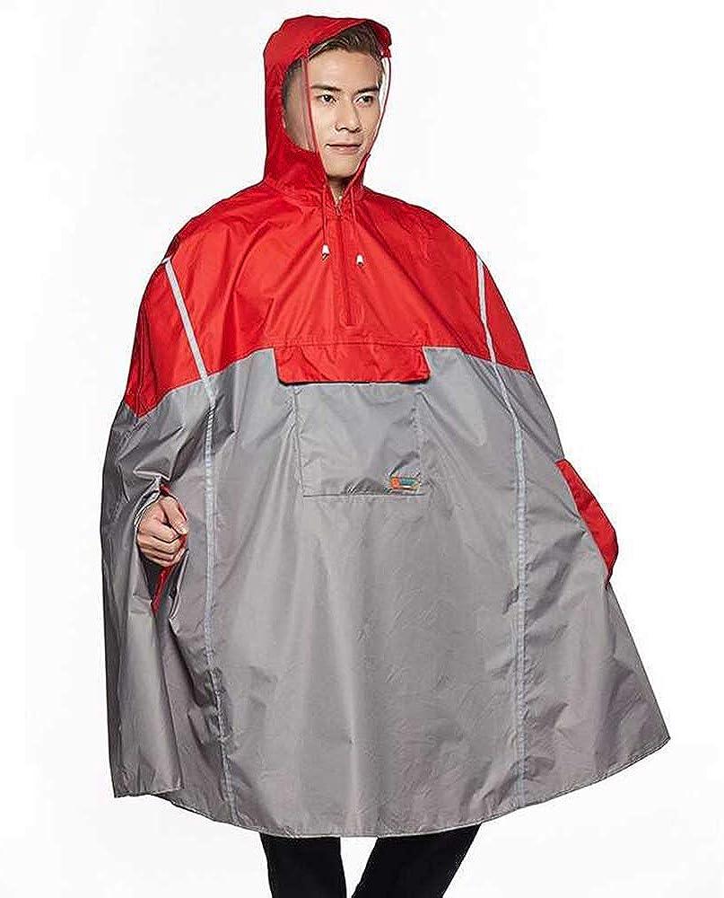 New Lightweight Cycling Rain Poncho Bike Hooded Raincoat with Reflector Strips