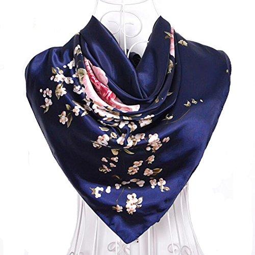 Navy Blue Silk Dress - 8
