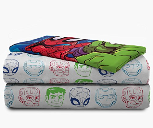 Jay Franco Marvel Avengers Heroes Amigos 4 Piece Toddler Bed Set – Super Soft Microfiber Bed Set – Bedding Features Captain America, Hulk, Iron Man, and Spiderman (Official Marvel Product) 6