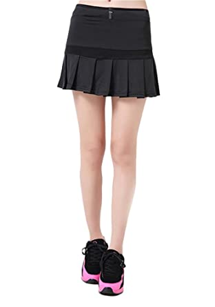 3e9fd677246 G-Fengshang Women s Running Skorts High Waist Pleated Golf Tennis Skirts  Black