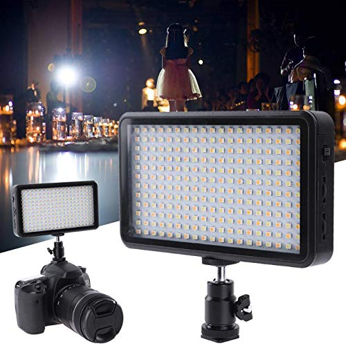 DP-iot 228LED Video Camera Light W228 2000LM LED ABS Dimmable Ultra Bright Panel Digital Camera Camcorder Lamp