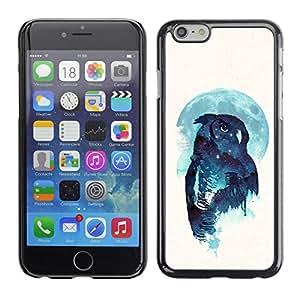 Caucho caso de Shell duro de la cubierta de accesorios de protección BY RAYDREAMMM - Apple Iphone 6 Plus 5.5 - Noctámbulo