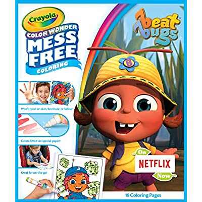 Crayola Color Wonder Pad & No Mess Markers, Beat Bugs, Gift for Kids, Age 3, 4, 5, 6: Toys & Games