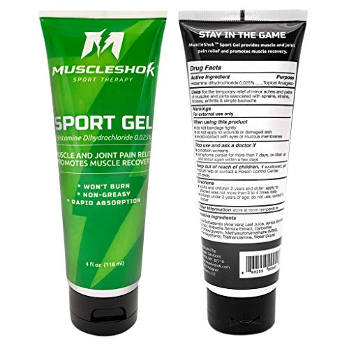 MuscleShok Joint and Muscle Pain Relief Sport Gel (1 Pack)