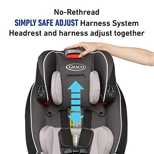 51yOuGPuPpL - Graco SlimFit 3 In 1 Car Seat | Slim & Comfy Design Saves Space In Your Back Seat, Darcie