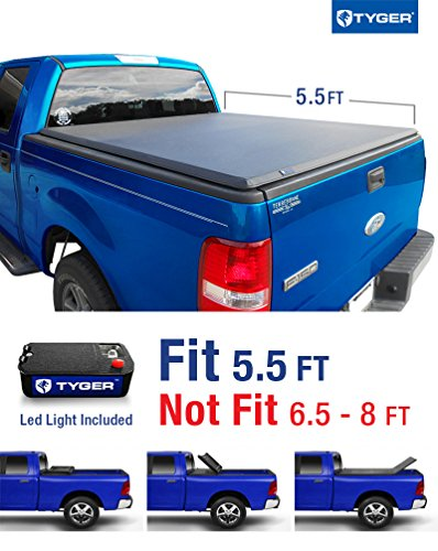 Tyger Auto TG-BC3F1016 TRI-FOLD Truck Bed Tonneau Cover 2004-2008 Ford F-150 (Excl. 2004 Heritage); 2005-2008 Lincoln Mark LT | Styleside 5.5′ Bed