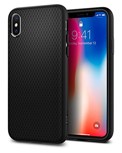 Spigen Liquid Air Armor iPhone X Case with Durable Flex and Easy Grip Design for Apple iPhone X (2017) – Matte Black