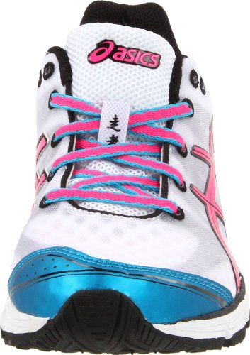 Asics Donne Scarpa Gel-ds Corridore 9 Funzionamento Bianco / Rosa Neon / Blu Elettrico