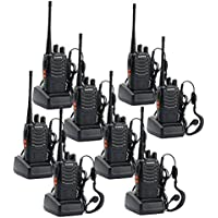 Walkie Talkies, Sunreal BF-888s UHF 400-470 MHz Rechargeable Two Way Radio CTCSS/DCS with LED Light Walkie Talkie for Adults (Pack of 8)