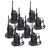 Walkie Talkies Long Range Rechargeable Two Way Radio Built in LED Torch with Original Earpiece for Adults Camping Hiking Communication(Pack of 8)