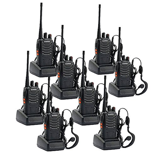 Walkie Talkies Long Range Rechargeable Two Way Radio Built in LED Torch with Original Earpiece for for Adults Camping Hiking Communication